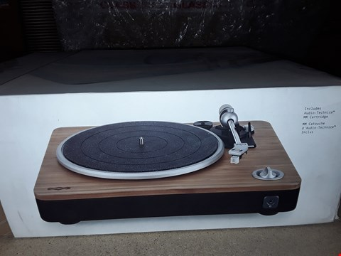 Lot 89 BRAND NEW BOXED HOUSE OF MARLEY RETRO TURNTABLE