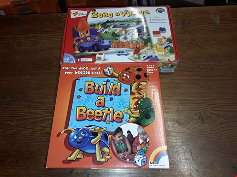 Lot 1029 LOT OF 2 ITEMS TO INCLUDE WONDER GAME BUILD A VILLAGE AND NEW ENTERTAINMENT BUILD A BEETLE