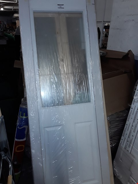 Lot 501 HALF GLAZED WOOD PART FINISHED DOOR