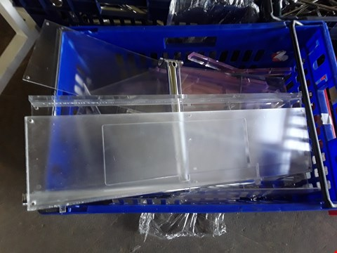 Lot 2045 BOX OF METAL RAILING FITTINGS AND PLASTIC SHELVING