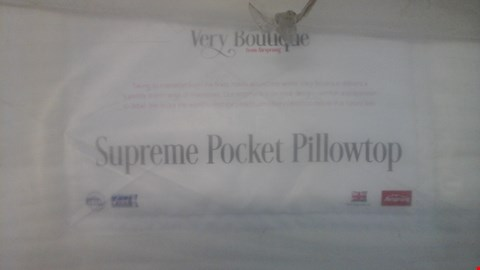 Lot 1272 QUALITY BAGGED VERY BOUTIQUE FROM AIRSPRUNG SUPREME POCKET PILLOWTOP 5FT MATTRESS