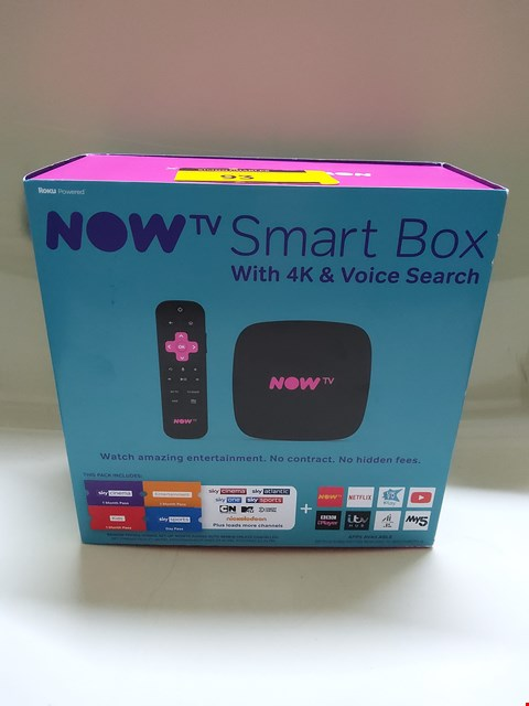 Lot 93 BOXED NOW TV SMART BOX