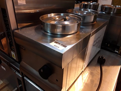 Lot 3019 LINCAT DOUBLE ELECTRIC COUNTER TOP BAIN MARIE