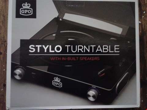 Lot 6152 BOXED GRADE 1 GPO STYLO TURNTABLE WITH IN-BUILT SPEAKERS RRP £50