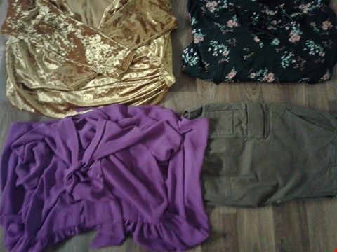Lot 9383 4 ASSORTED BOXED  CLOTHING WITH MALE AND WOMEN CLOTHING LINES , DRESSED AND CARGO SHORTS