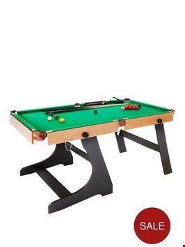 Lot 80 BOXED 6FT FOLDING SNOOKER AND POOL TABLE.  RRP £250