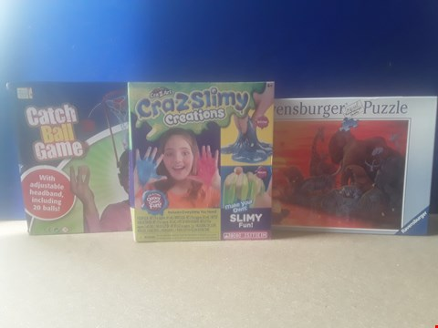 Lot 5010 THREE BOXED TOYS, INCLUDING CATCH BALL GAME, CRA•Z•SLIMY CREATIONS AND 500 PIECE RAVENSBURGER PUZZLE