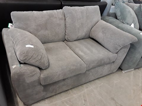 Lot 89 DESIGNER GREY FABRIC TWO SEATER SOFA