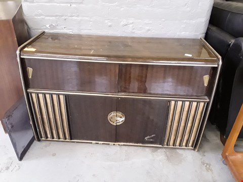 Lot 196 DESIGNER MID-CENTURY BLAUPUNKT RADIOGRAM WITH GARRARD RECORD DECK AND ILLUMINATED COCKTAIL BAR