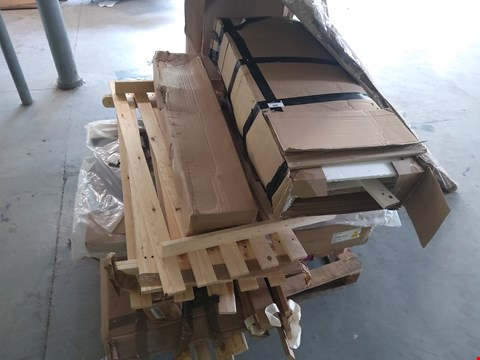 Lot 105 PALLET OF ASSORTED FLAT PACK FURNITURE PARTS