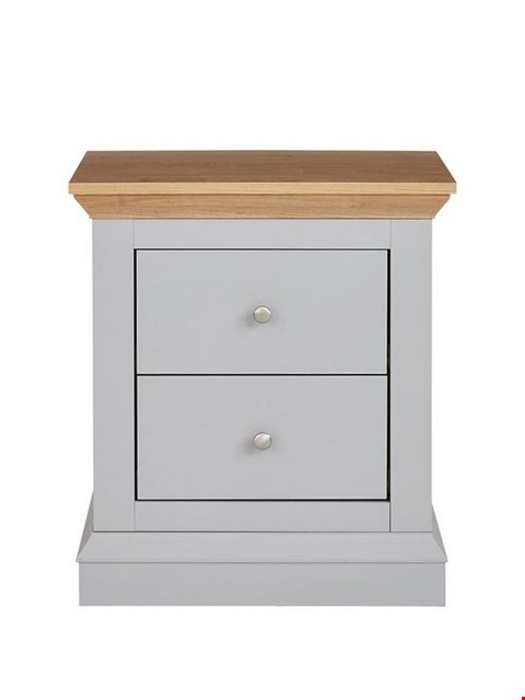 Lot 7074 BOXED GRADE 1 HANNAH 2 DRAWER BEDSIDE CHEST (1 BOX)