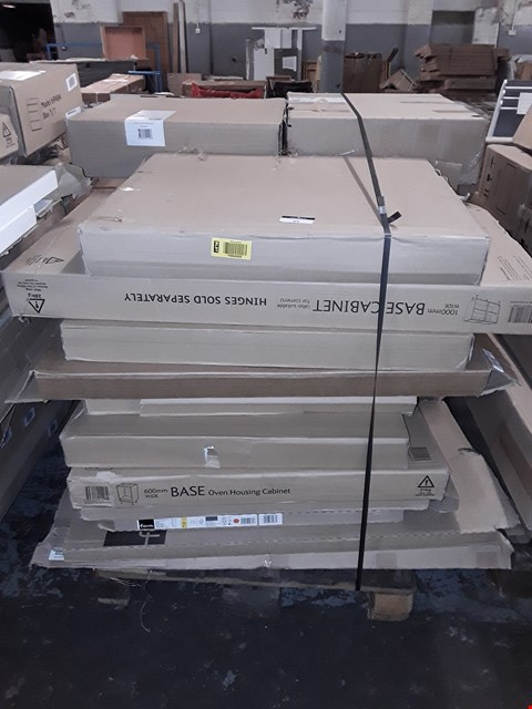 Lot 89 PALLET OF ASSORTED FLAT PACK KITCHEN ITEMS  RRP £836