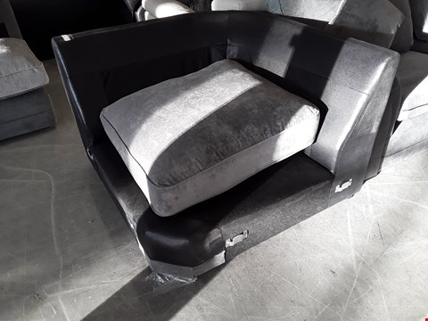 Lot 10 BLACK FAUX LEATHER CORNER SECTION