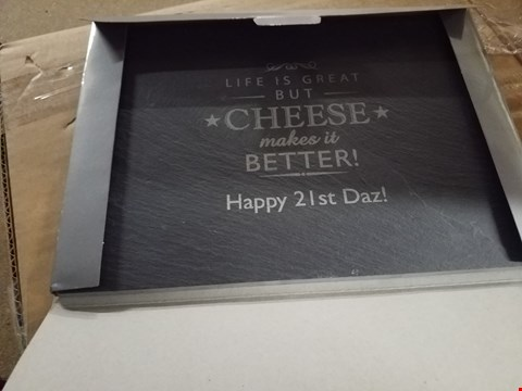 Lot 2227 PERSONALISED CHEESE MAKES LIFE BETTER RRP £40.00