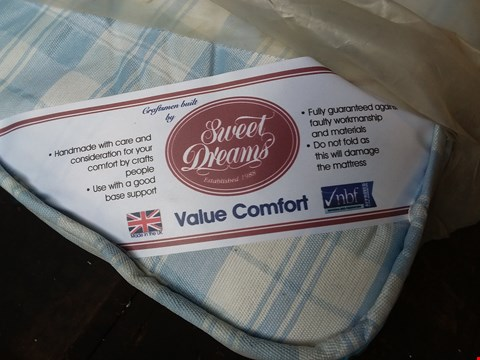 Lot 634 QUALITY BAGGED SWEET DREAMS VALUE COMFORT MATTRESS APPROXIMATELY 150 X 200CM
