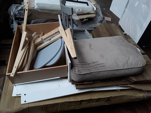 Lot 117 PALLET OF ASSORTED FLAT PACK AND CHAIR PARTS