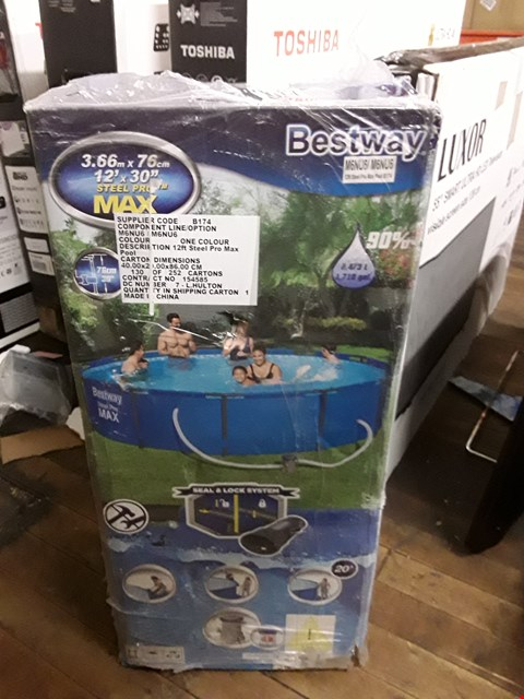 Lot 3747 BESTWAY 12FT STEEL PRO MAX POOL RRP £210.00