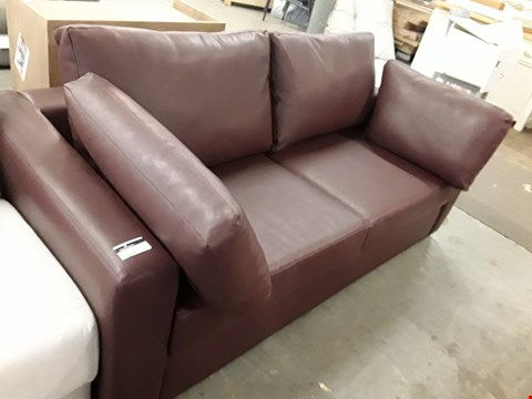 Lot 23 QUALITY HAND MADE LYNEHAM BROWN LEATHER 3 SEATER SOFA  RRP £1645.00