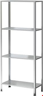 Lot 101 9 BOXED GALVANISED STEEL SHELVING UNITS 140 X 27 X 60CM