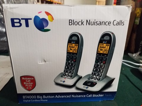 Lot 18053 BT4000 BIG BUTTON ADVANCED NUISANCE CALL BLOCKER TWIN RRP £79.99