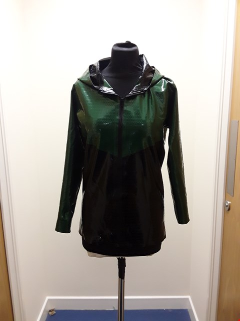 Lot 1097 LATEX101 GREEN AND BLACK TEXTURED LATEX HOODIE