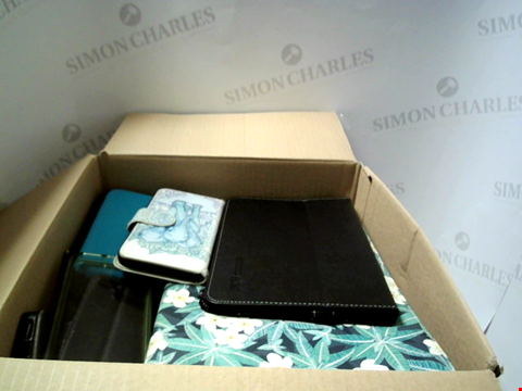 Lot 6218 BOX OF ASSORTED PHONE AND TABLET CASES ETC