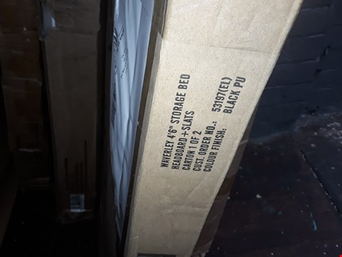 """Lot 1145 BOXED WAVERLY 4,6"""" STORAGE BED- BLACK PU (BOX 1 OF 2 ONLY) (1 BOX ONLY)"""