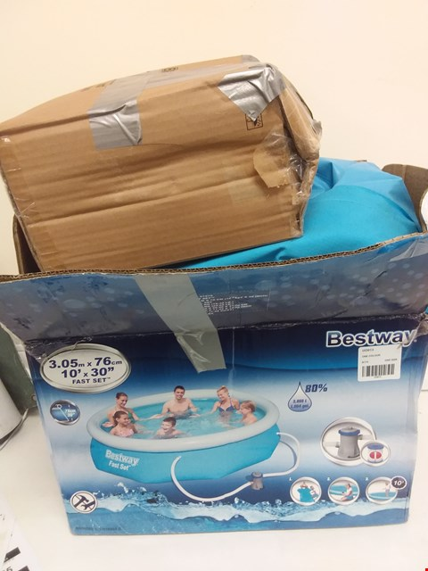 Lot 9042 BESTWAY 10FT POOL FAST SET BLUE RRP £169.00