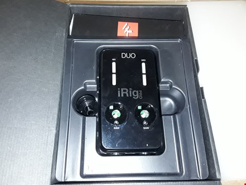 Lot 210 IRIG PRO DUO MOBILE AUDIO/MIDI INTERFACE