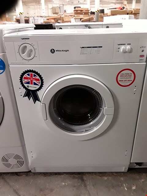 Lot 32 WHITE KNIGHT INTERGRATED VENTED TUMBLE DRYER  RRP £190