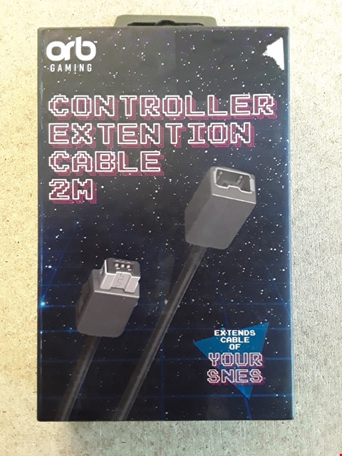 Lot 155 LOT OF 5 BRAND NEW ORB SNES 2M CONTROLLER EXTENSION CABLES