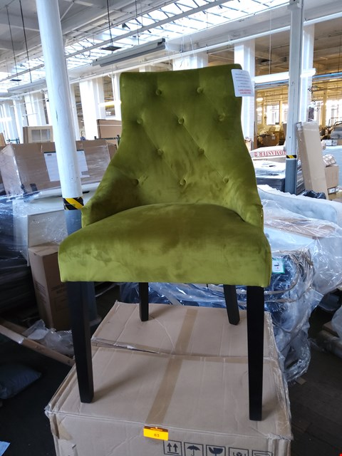 Lot 83 BOXED PAIR OF HOBBS MOSS FABRIC DINING CHAIRS