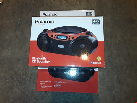 Lot 4626 LOT OF 3 POLAROID BLUETOOTH CD BOOMBOXES