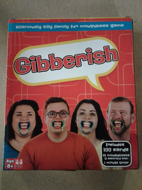 Lot 2035 BOXED GIBBERISH THE HILARIOUS FAMILY FUN MOUTHPIECE GAME