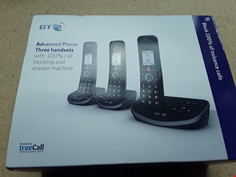 Lot 17 BOXED BT ADVANCHED PHONE THREE HANDSETS