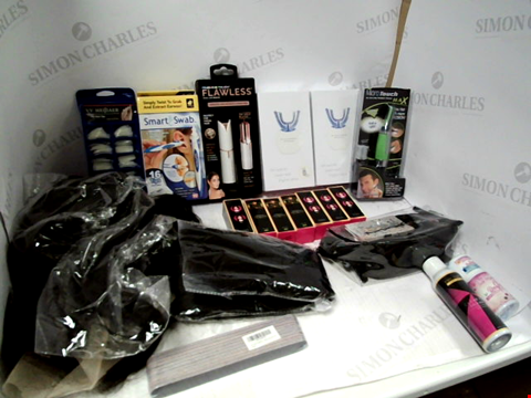 Lot 11045 LOT OF ASSORTED HEALTH & BEAUTY PRODUCTS TO INCLUDE: 360 DEGREE ELECTRIC TOOTHBRUSHES, FLAWLESS FACIAL HAIR REMOVER, MAC COSMETICS BAG