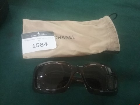 Lot 81 DARK BROWN SUNGLASSES IN THE STYLE OF CHANEL