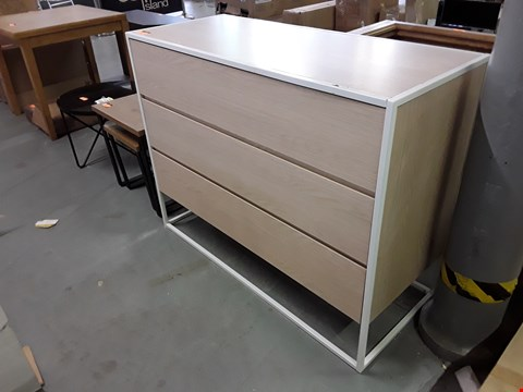 Lot 130 COSMO 3 DRAWER CHEST RRP £185