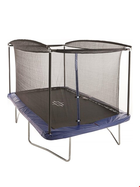 Lot 10295 SPORTSPOWER 10 X 8FT RECTANGULAR TRAMPOLINE WITH EASI-STORE (2 BOXES) RRP £319.99