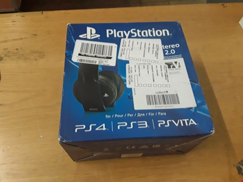 Lot 113 BOXED SONY PLAYSTATION WIRELESS STEREO HEADSET  RRP £115