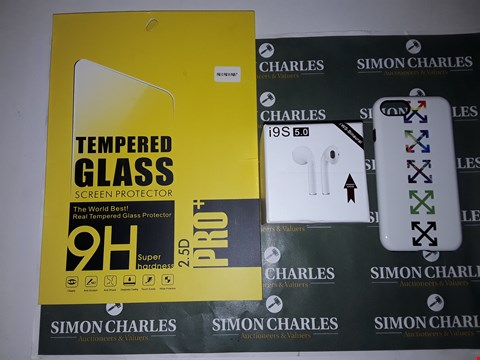 Lot 6490 BOX OF ASSORTED TABLET AND MOBILE PHONE ACCESSORY ITEMS TO INCLUDE TEMPERED GLASS, HEADPHONES, PHONE CASE ETC