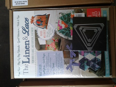 Lot 2309 3 BOXES OF APPROXIMATELY 120 BRAND NEW LINEN AND LACE MAGAZINE ISSUE 1