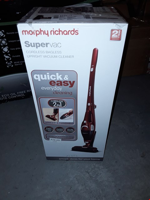 Lot 510 MORPHY RICHARDS 732005 2-IN-1 SUPERVAC CORDLESS VACUUM CLEANER