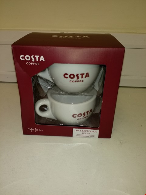 Lot 9188 COSTA COFFEE CUP & SAUCER SET FOR TWO RRP £25.00