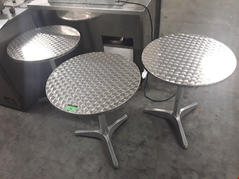 Lot 96 THREE CIRCULAR BISTRO TABLES