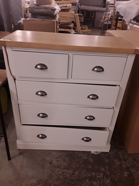 Lot 2040 DESIGNER PAINTED WOOD AND OAK 2 & 3 DRAWER CHEST