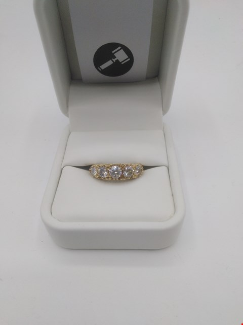 Lot 6 18CT GOLD 'BOAT' RING SET WITH DIAMONDS WEIGHING +1.33CT RRP £3150.00