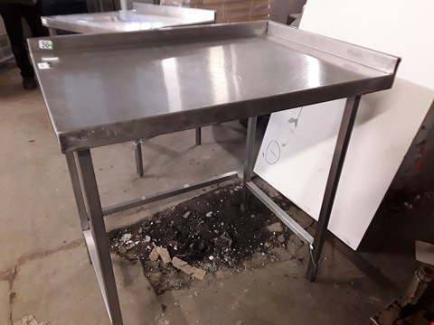 Lot 15084 CORNER WORK TABLE WITH SPLASHBACK AND VOID