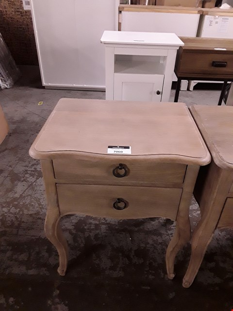 Lot 7060 DESIGNER WOOD-EFFECT TWO DRAWER LAMP TABLE