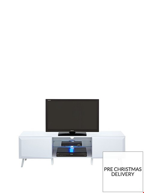 Lot 5099 BOXED XANDER HIGH WHITE GLOSS WIDE TV UNIT